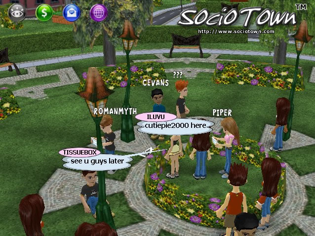 Young people related challenges and games social features lists.
